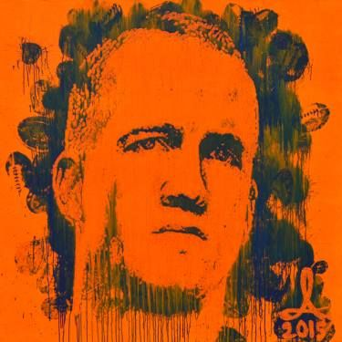 "Saatchi Art Artist Andrzej Lenard; Painting, "" Peyton Manning portrait painted with football "" peyton manning portrait art acrylic see the video here: https://www.youtube.com/watch?v=rU1cxps0CSM"