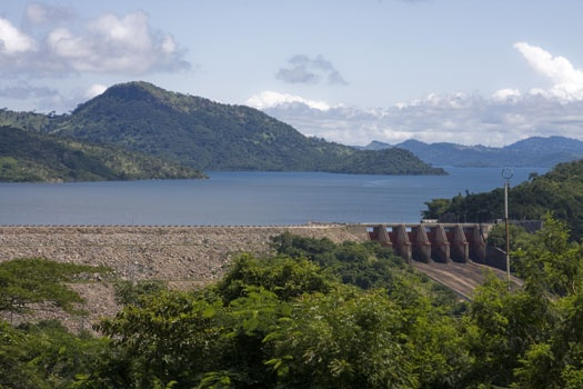 Akosombo Dam on Lake Volta, Ghana.....The dam created the largest man-made lake in the world (3,280 square miles)