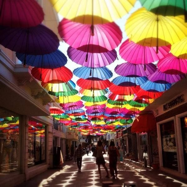 Sweet summer memories of street with umbrellas in #Fethiye #Turkey