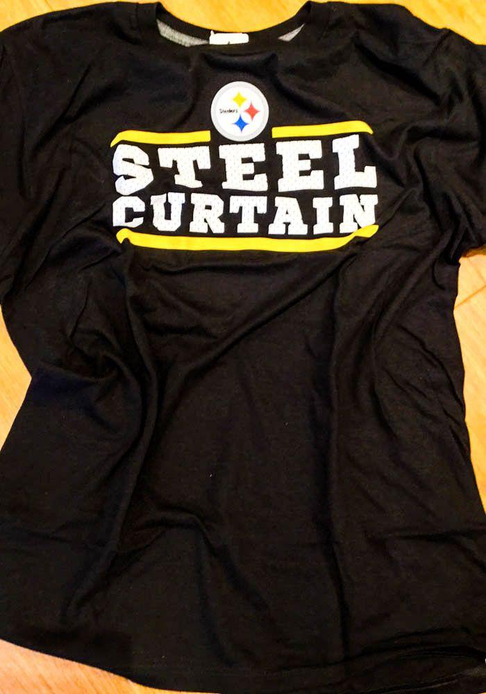 new concept 66e29 30dda Majestic Pittsburgh Steelers Black Safety Blitz Short Sleeve ...