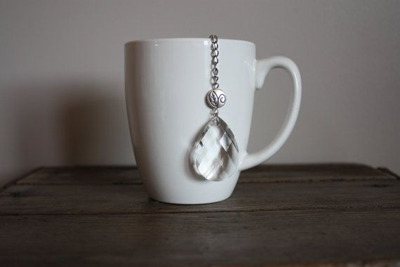 Faceted Clear Glass Tear Drop 2 Inch Single by ForTheLoveOfColour