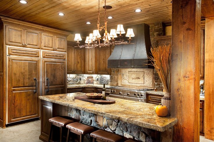 61 best images about rustic kitchens on pinterest for Log cabin kitchen backsplash ideas
