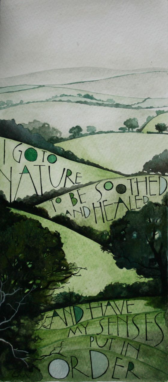"""I go to nature..."" lettering « Sam Cannon"