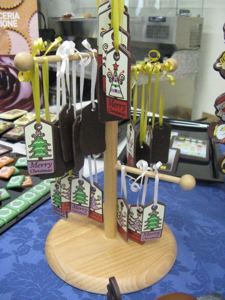 appendibili per albero di Natale cioccolato Omar Busi