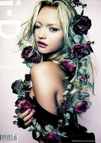 Gemma Ward - roses
