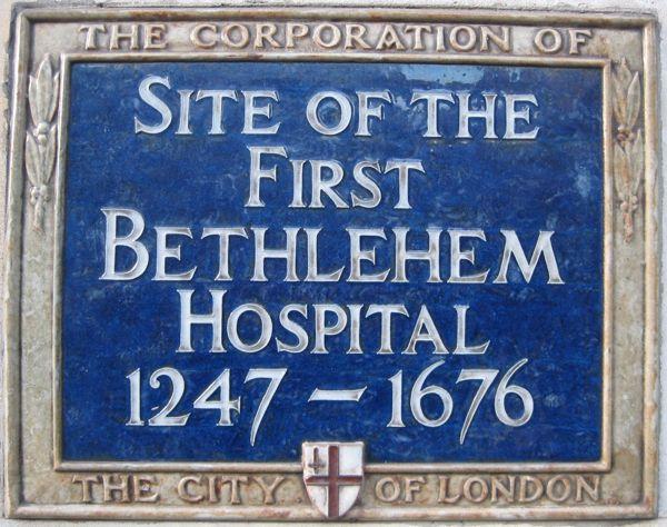 Liverpool St Station is built on the site where Bethlehem hospital (Bedlam) stood