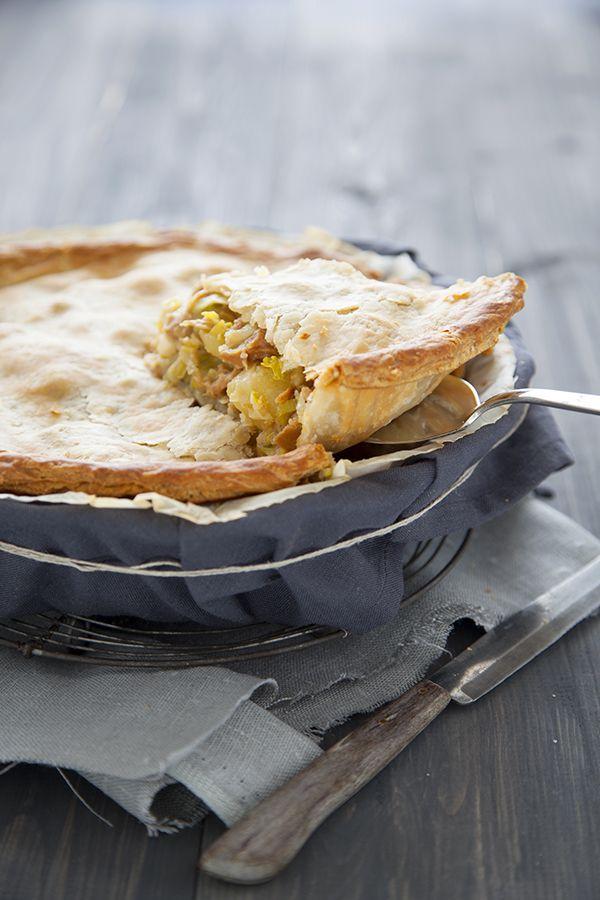 Pour continuer, le menu VG du vendredi 19 février, une délicieuse tourte pommes de terre et poireaux.