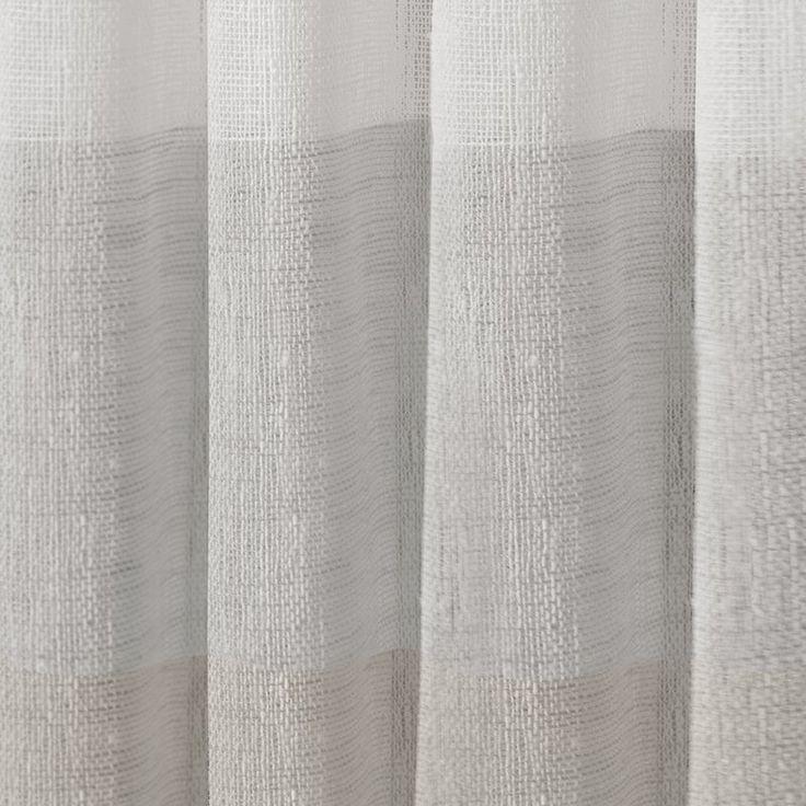 Bartow Striped Sheer Rod Pocket Curtain Panels