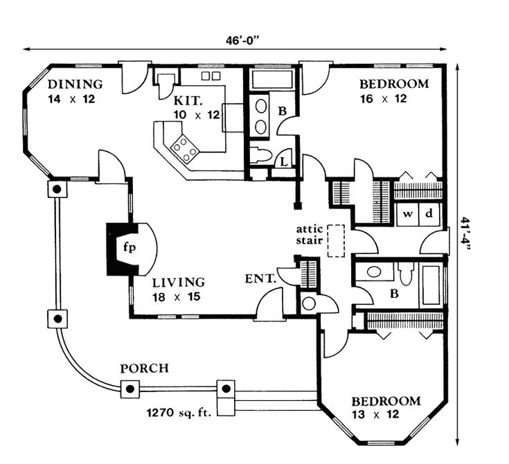 Traditional house plan first floor 095d 0005 from for Creative floor plans