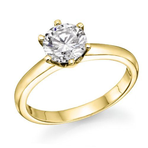 1/2 ct. Round Diamond Solitaire Engagement Ring in 14k Yellow Gold $749.00