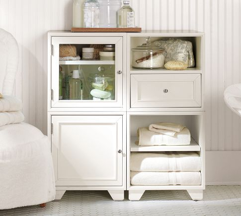 Modular Floor Storage Pottery Barn  would need a deal 118 best Soho Office images on Pinterest   Soho  Bathroom storage  . Floor Storage Cabinets For Bathroom. Home Design Ideas