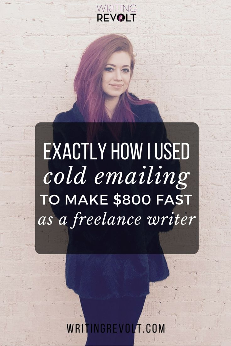 If you want to make money writing online, you NEED to send cold emails. That's a fact!  This post will show you exactly how I did it and made $800 in my first month as a full-time freelance writer.   Read now to start learning! :) ---> http://www.writingrevolt.com/how-i-used-cold-emails-to-find-freelance-writing-opportunities/