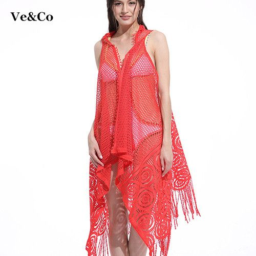 VE&CO New Bikini Cover Up Women Pareo Beach Cover Up 4 Color Robe De Plage 2017 Famous Brand Beach Wear Women Swimsuit Cover Ups