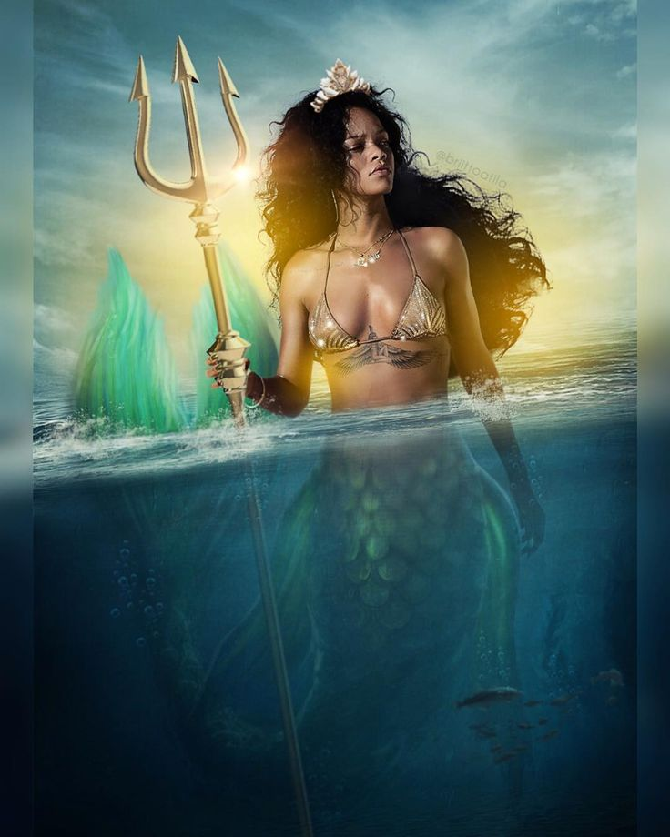 "2,140 Likes, 42 Comments - Navy Or Die (@briittoatila) on Instagram: ""- aRIHel - ‍♀️ #badgalriri #mermaid #rihanna #rihannanavy"""