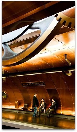 Paris Metro, Arts et Metiers Station, Paris France, by www.FotoAmore.com