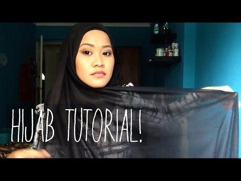Hijab Tutorial: Maxi Viscose Shawl | Farah Amira - YouTube