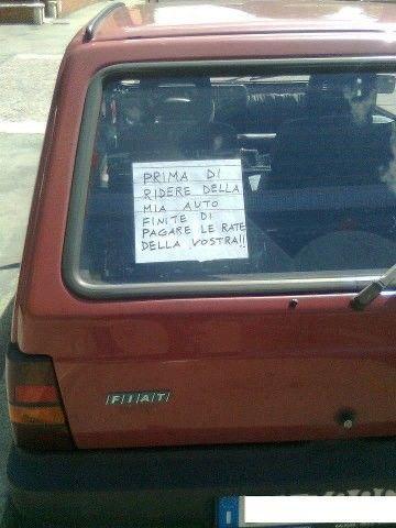 PRIMA DI RIDERE DELLA MIA AUTO…..