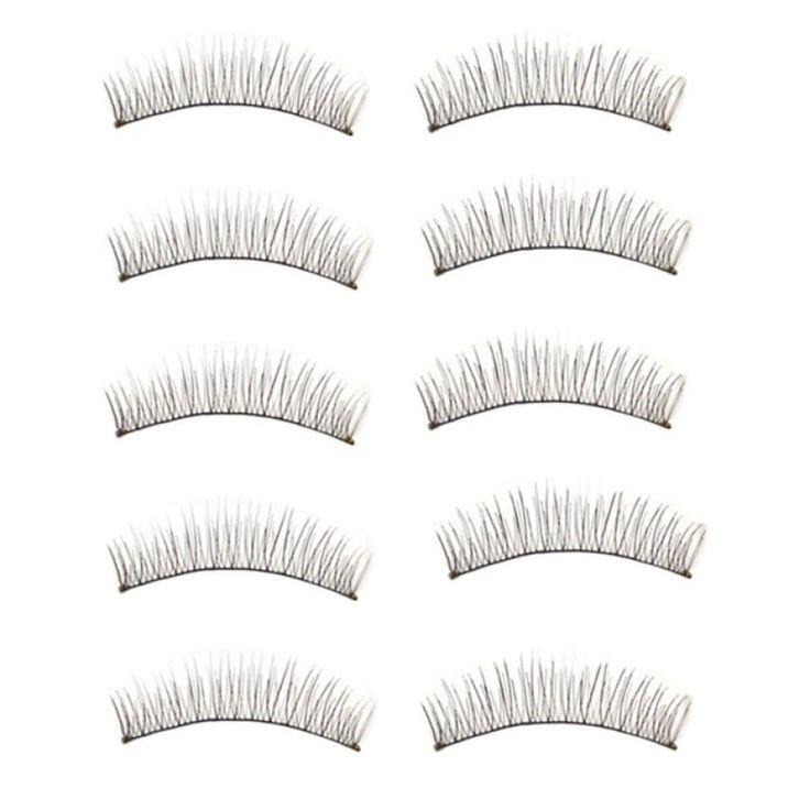 Hot Selling ! Superior New 10 Pairs Long Thick Soft Handmade Fake False Eye Lash Makeup Extensions June 16