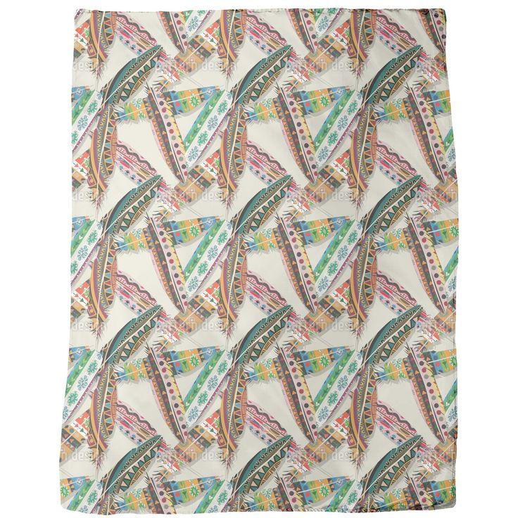 uneekee ethno feathers blanket