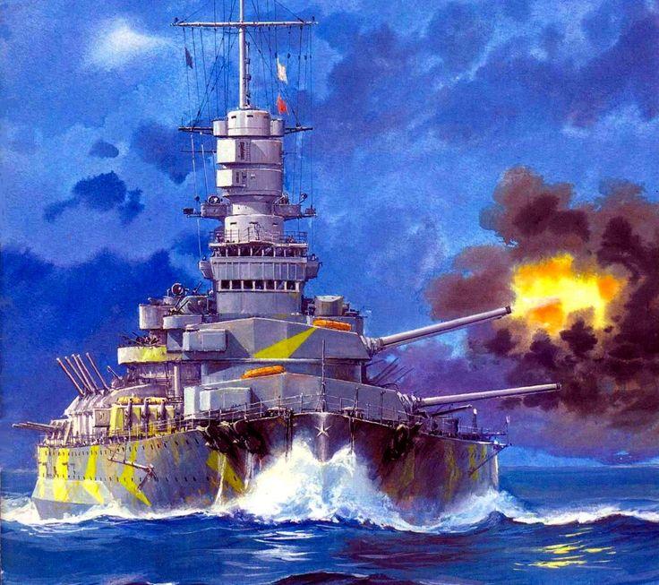 Italian Battleship Vittorio Veneto 1941