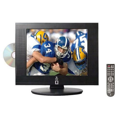 15'' Hi-Definition LCD Flat Panel TV w/ Built-In DVD Player