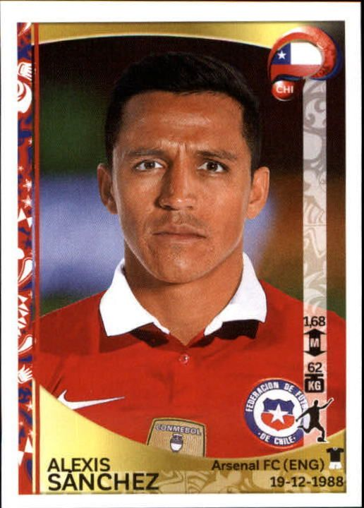 2016 Panini Copa America Centenario Stickers #349 Alexis Sanchez