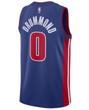 Nike Men's Andre Drummond Detroit Pistons Icon Swingman Jersey - Blue XL
