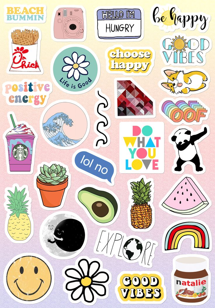 Small & Large Aesthetic Stickers for Phone Case 11 Inc ...