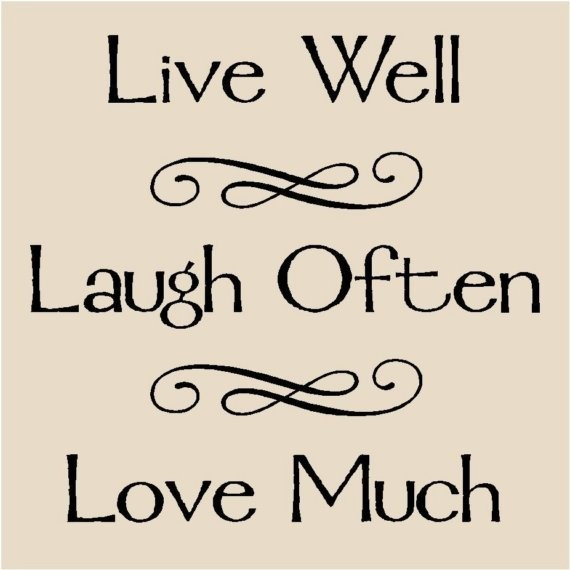 live well laugh often love much t22 vinyl lettering decal tile quote via etsy event gift. Black Bedroom Furniture Sets. Home Design Ideas