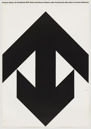 """Il Segno Urbano  A. G. Fronzoni (Italian, 1923-2002)    1979. Lithograph, 38 9/16 x 26 3/4"""" (98 x 68 cm)."""