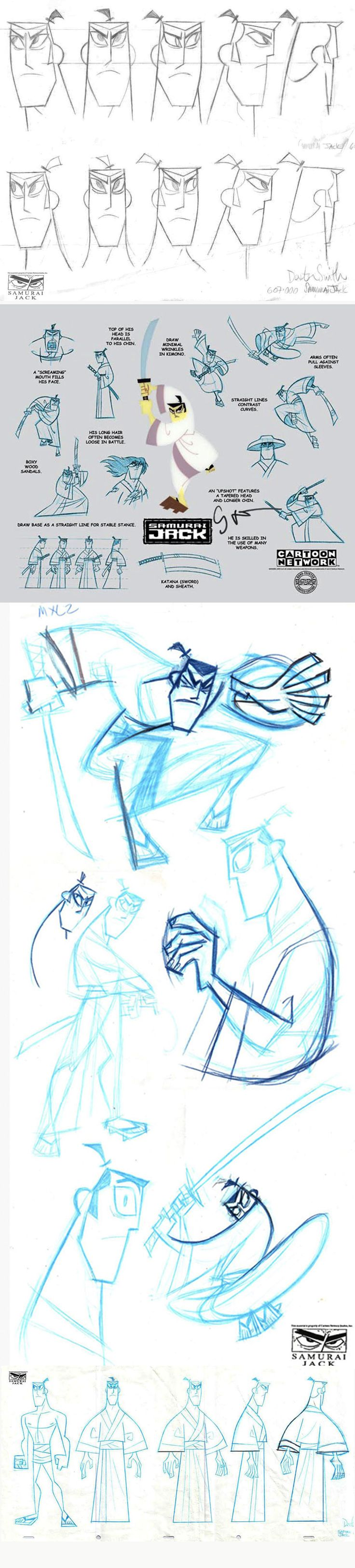 Samurai Jack.   http://www.traditionalanimation.com/samurai-jack-model-sheets/