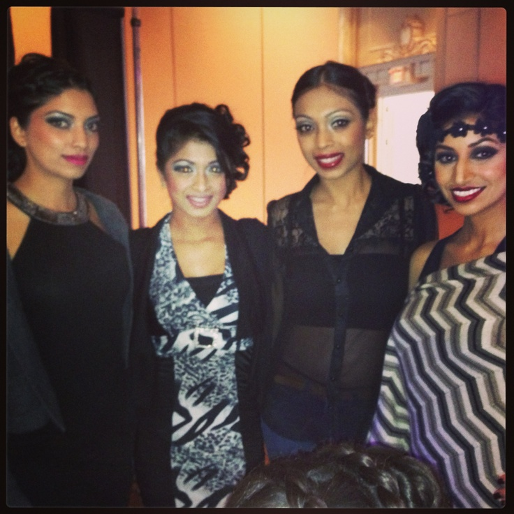 Behind the scenes of Ohm Bridal Fashion Show 2013 - some the models at rehearsal, hair and makeup done!