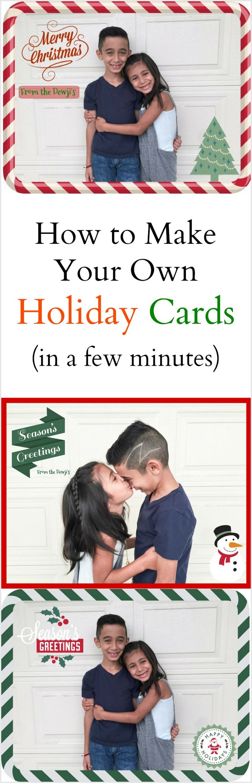 Easy DIY Family Holiday Cards (Christmas Cards, holidays)