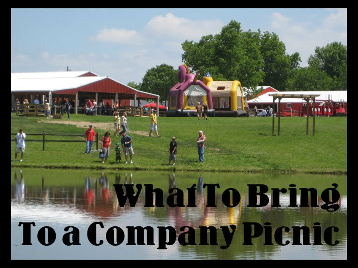 A few reminders of things to bring to a company picnic.