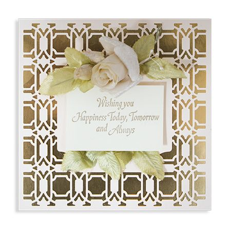 Card Creator Art Deco - Deco Lux Card Front Etched Dies