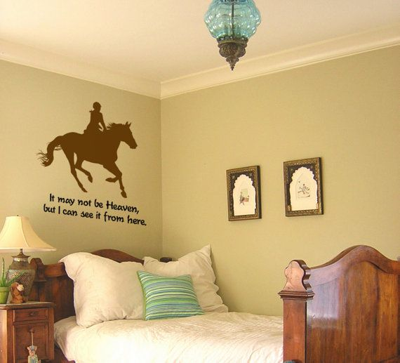 I love the horse decal, and the style of the room
