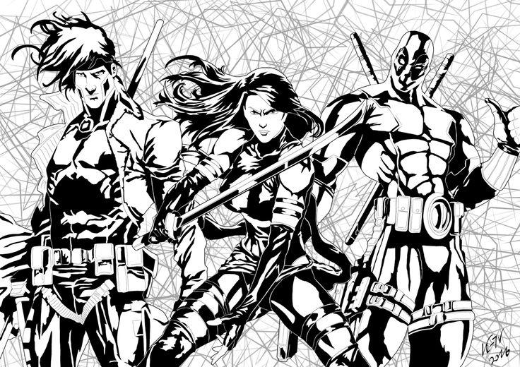 Favourite Mutants...  Gambit - Psylocke - Deadpool