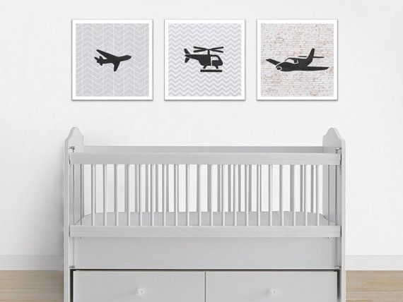 Flight Print Set. Nursery Flight Prints. Baby Boy Print Set. Planes and Helicopter Prints. 3 prints for the price of 2.  These flight nursery prints will be delivered to you as digital files. Includes 3 JPG files that may be used to create prints of every size listed in the description below! You may print the artworks at home, via an online print shop or in a local print shop of your choice. These flight prints would look adorable in a nursery or playroom. These flight themed prints would…