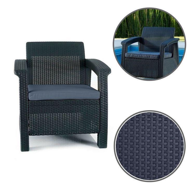 Modern Outdoor Chair Poolside Durable Arm Patio Garden Seat Soft Cushions #ModernOutdoorChair