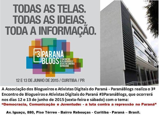 CRABASTOS BRASIL: 3º Encontro de Blogueiros e Ativistas Digitais do ...