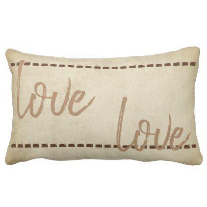 love quote pillow rustic chic style sepia tone - chic design idea diy elegant beautiful stylish modern exclusive trendy