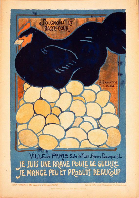 Je Suis Une Brave Poule de Guerre I am a brave hen of war