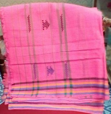 Assamee Pink Color Cotton Mekhela Chadar Sarees on Shimply.com