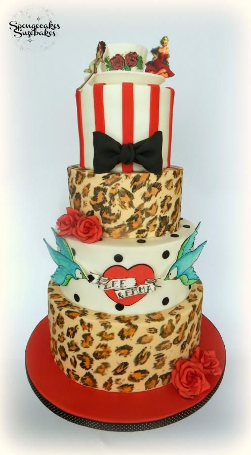 Best Rockabilly Images On Pinterest Cake Rockabilly Wedding - Rockabilly birthday cake