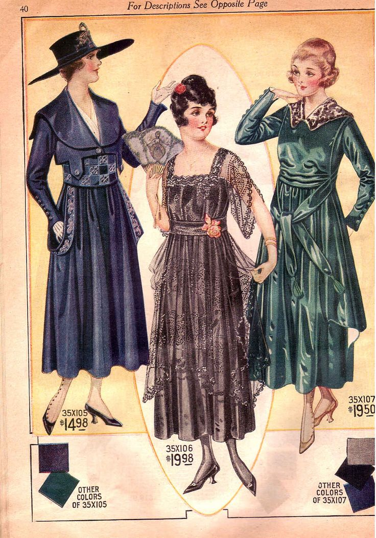Dresses from Bella Hess Catalogue 1917