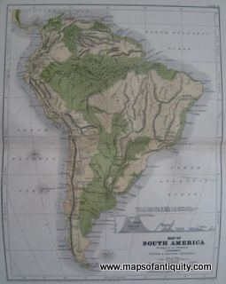Antique-Map-of-South-America- Maps of Antiquity