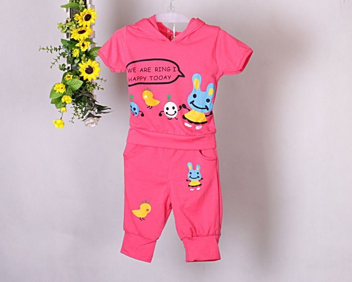 18.60$  Buy now - 2015 new summer children clothes set baby girl or boy  t shirts + pants  kids clothing sets  #magazine