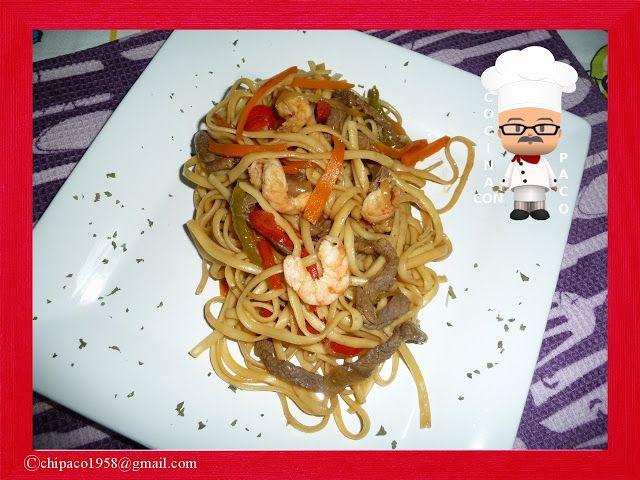 Cocina con Paco: Tallarines tres delicias