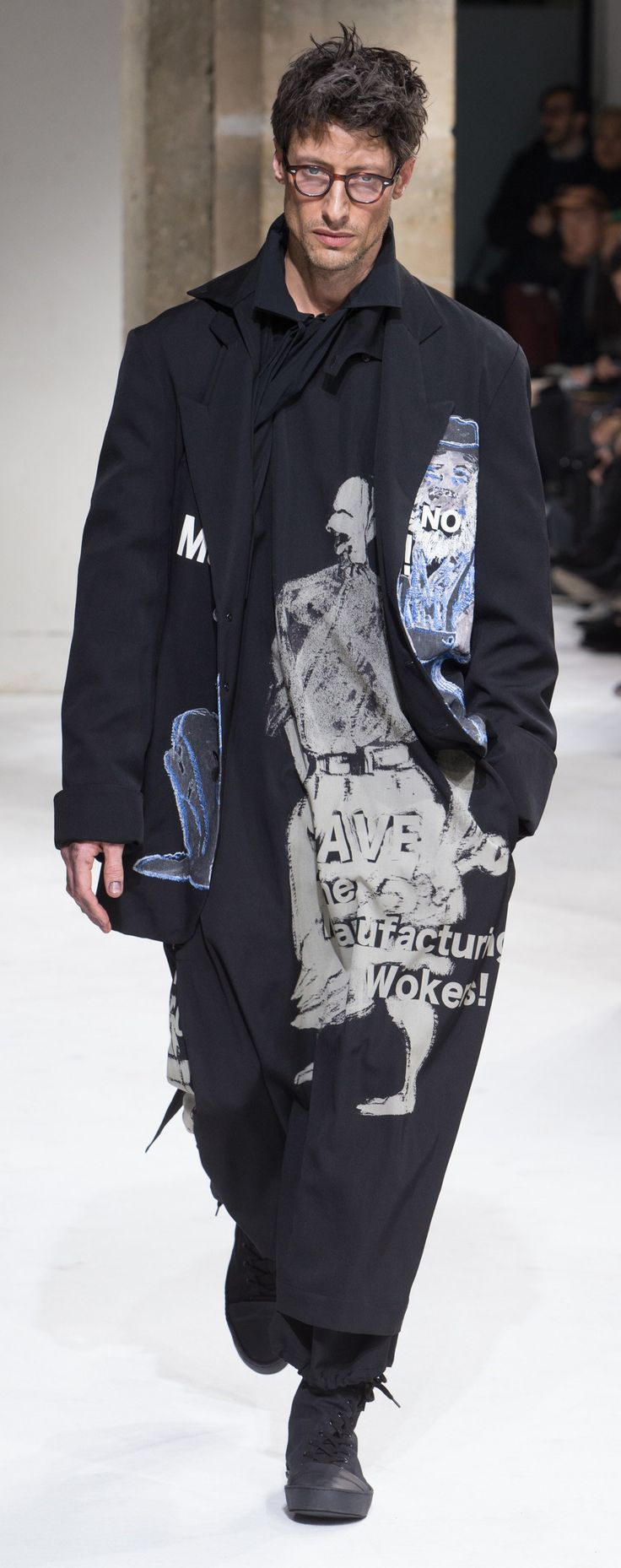 Yohji Yamamoto - Fall 2017 http://www.99wtf.net/men/mens-fasion/dressing-styles-girls-love-guys-shirt-included/