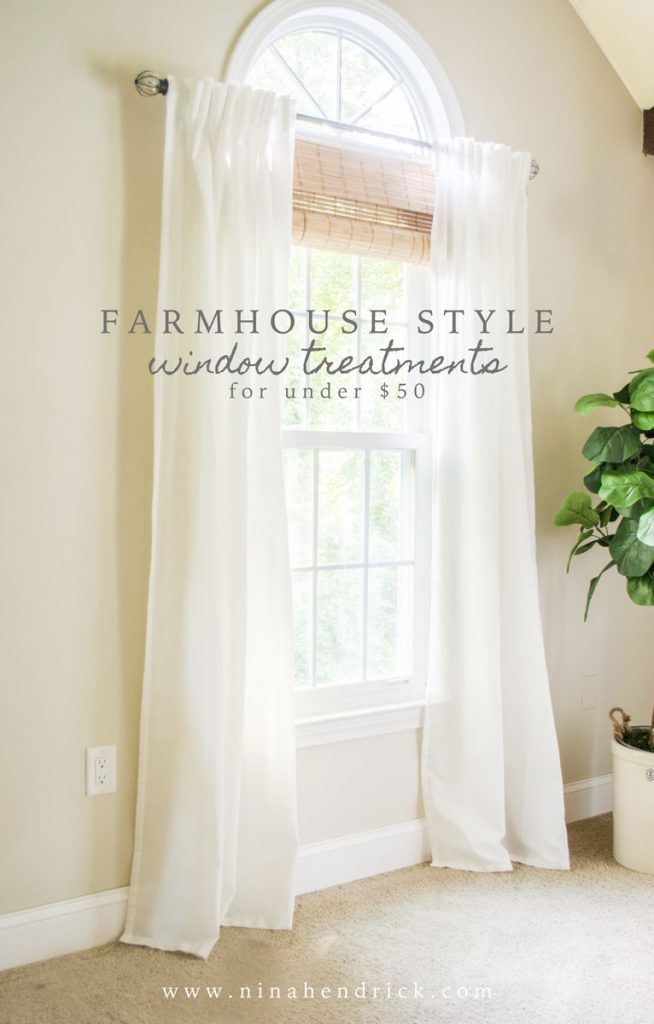 stylish budget window treatments - Living Room Window Coverings